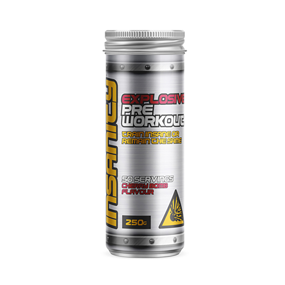 Bio-Synergy Insanity Pre-workout explosive Cherry bomb flavour